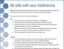 Safe With Medications Flyer